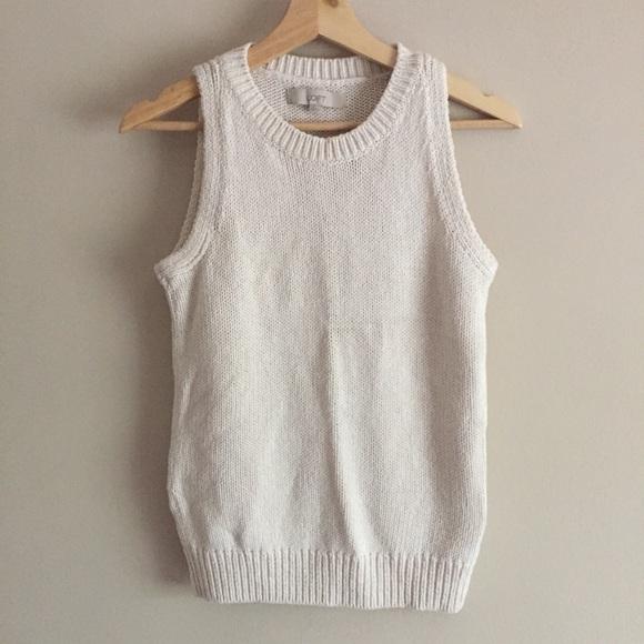 aa2aa4475eea LOFT Sweaters   Textured Sleeveless Sweater   Poshmark